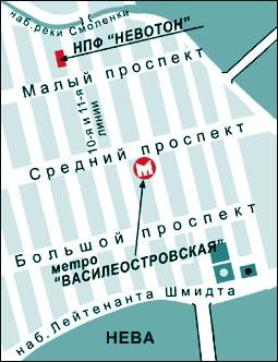 電磁リフレクソロジーのネボトン社地図